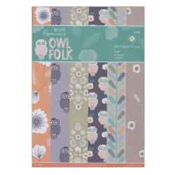 Owl Folk A5 Paper pack