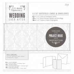 """6 x 6"""" Gatefold Cards & Envelopes (25pk) - Wedding Damask (PMA 158101)"""