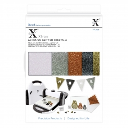 Xcut Xtra A5 Adhesive Glitter Sheets - Metallics (XCU 174406)