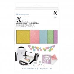 Xcut Xtra A5 Adhesive Glitter Sheets - Pastels (XCU 174407)