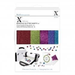 Xcut Xtra A5 Adhesive Glitter Sheets - Darks (XCU 174408)