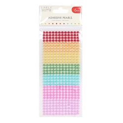 Simply Creative 6mm Pearls 372 Pack - Rainbow (SCDOT057)