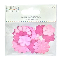 Simply Creative Paper Blossoms - Pink (SCFLW001)