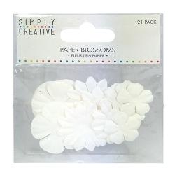 Simply Creative Paper Blossoms - White (SCFLW003)