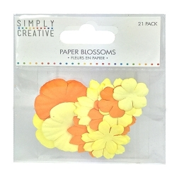 Simply Creative Paper Blossoms - Yellow (SCFLW004)