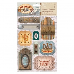 A5 Die-cut Toppers & Sentiments (2pk) - Mr Smith's Workshop (PMA 157261)