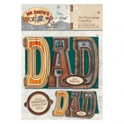 A5 Decoupage Card Kit - Mr Smith's Workshop (PMA 169137)