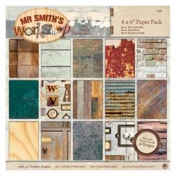 6 x 6'' Paper Pack (36pk) - Mr Smith's Workshop (PMA 160322)