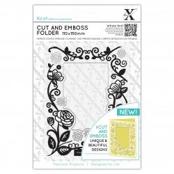 110 x 150mm Cut & Emboss Folder - Floral Frame (XCU 503804)