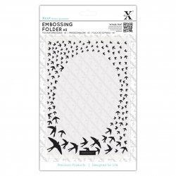 A5 Embossing Folder - Swallow Frame (XCU 515214)
