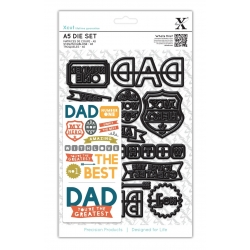 A5 Die Set (14pcs) - Dad Text (XCU 503187)