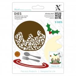 Dies (9pcs) - Filigree Christmas Pudding (XCU 504063)