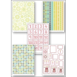 Download - Set - Funky birthday prints