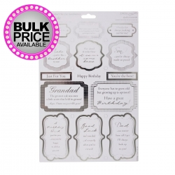A4 Die-cut Sentiments - Male (ANT 157121)