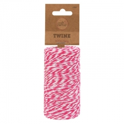 Decorative Twine Candy Stripe 100m (U-80937)