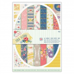 A4 Double sided Paper Pack (40pk) - Folk Floral (PMA 160319)