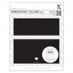 "6 x 6"" Embossing Folder - Banner (XCU 515184)"