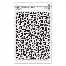 A4 Xcut Embossing Folder - Leopard Print (XCU 515916)