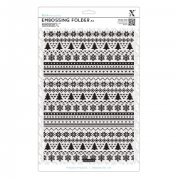 A4 Xcut Embossing Folder - Fairisle Pattern (XCU 515913)