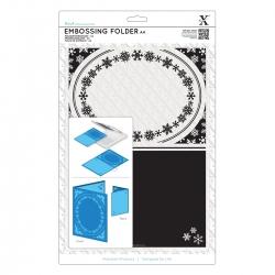 A4 Embossing Folder - Snowflake Frame (XCU 515912)