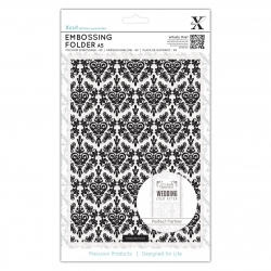 A5 Embossing Folder - Damask Background (XCU 515187)