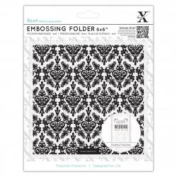"""6 x 6"""" Embossing Folder - Damask Background (XCU 515185)"""
