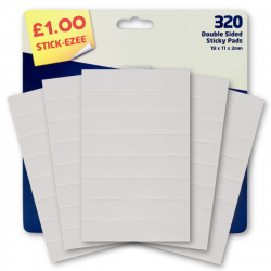 Double Sided Sticky Pads - 320 Pack (U-80163)