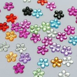 6mm Flower Gems Assorted (1000)