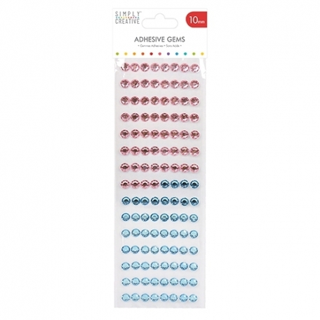 Simply Creative 10mm Gems - Pink and Blue (SCDOT025)