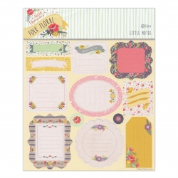 Folk Floral Little Notes Die-cut Sheet (12pcs)