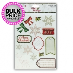 Dovecraft Glad Tidings A5 Glitter Stickers (DCSTK003X15)