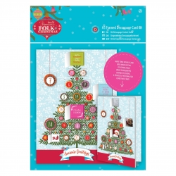 A5 Framed Decoupage Card Kit - Folk Christmas, Advent (PMA 169939)