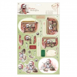 A4 Decoupage Pack - Wellington Christmas, Snowman (WEL 169902)