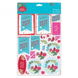 A4 Decoupage Pack Linen - Folk Christmas, Best Gift (PMA 169938)