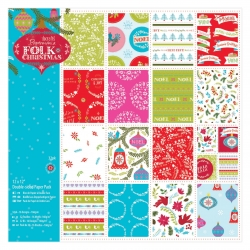 12 x 12 Double-sided Paper pack - Folk Christmas (PMA 160931)