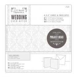 """6 x 6"""" Cards & Envelopes (25pk) - Wedding, Damask (PMA 158100)"""