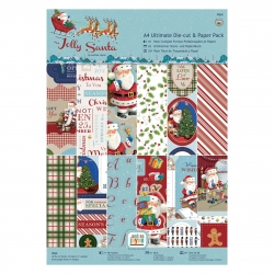 A4 Ultimate Die-cut & Paper pad - Jolly Santa (PMA 160939)