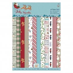A4 Paper Pack (24pk) - Jolly Santa (PMA 160937)