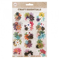 Craft Essentials - Flowers with gems (U-83152)