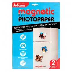Magnetic Photo paper, 2 sheet pack (U-80424)