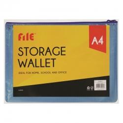 A4 Storage Wallet, Blue (U-80930)