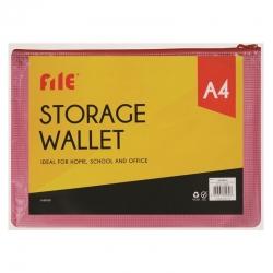 A4 Storage Wallet, Red (U-80930)