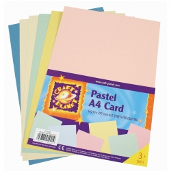 A4 Card (8pk, 250gsm) - Assorted Pastel (CPT 6761103)