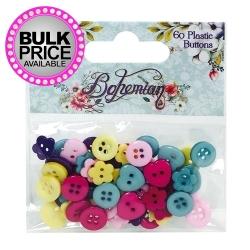 Dovecraft Bohemian Plastic Buttons (DCBTN002)