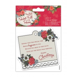 4 x 4'' Clear Stamp - Pocket Full of Posies, Sentiment (PMA 907957)