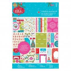 A4 Ultimate Die-cut & Paper pad - Folk Christmas (PMA 160933)