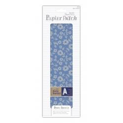 Deco Sheets (3pcs) - Papier Patch, Blue Linear Flowers (PMA 169311)