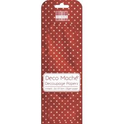 First Edition FSC Deco Mache - Red Polka (FEDEC157X15)