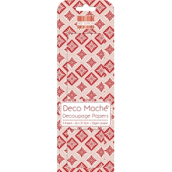 First Edition FSC Deco Mache - Red Geometric (FEDEC148X15)