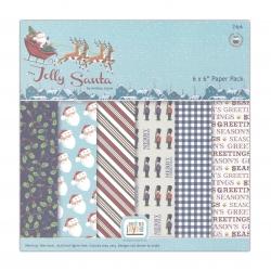 Jolly Santa 6 x 6'' Paper pack (24pk)